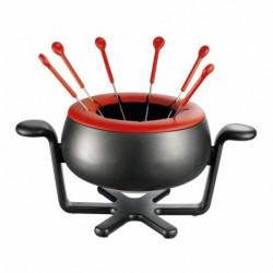 Moulinex Fondue Accesimo Noir Rouge 1000W 6 Personnes EF150811