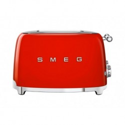 Smeg Grille-Pain Rouge 2000W 4 Tranches TSF03RDEU