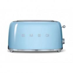 Smeg Grille-Pain Bleu Azur 1500W 4 Tranches TSF02CREU