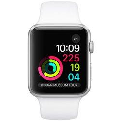 Apple Watch Série 1 (38mm) Boîtier en aluminium argent avec Bracelet Sport blanc MNNG2 (late 2017)