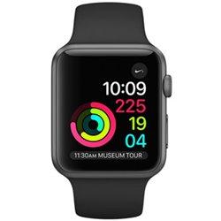 Apple Watch Série 1 (38mm) Boîtier en aluminium gris sidéral avec Bracelet Sport noir MP022 (late 2017)