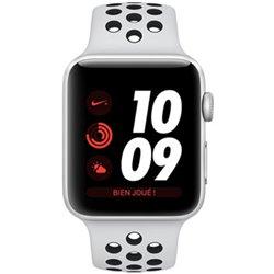 Apple Watch Nike+ Série 3 (38mm) Boîtier en aluminium argent avec Bracelet Sport Nike Platine pur/Noir (GPS) MQKX2 (late 2017)
