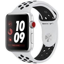 Apple Watch Nike+ Série 3 (38mm) Boîtier en aluminium argent avec Bracelet Sport Nike Platine pur/Noir (GPS + Cellular) MQM72 (l