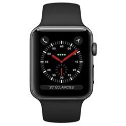 Apple Watch Series 3 boîtier en aluminium gris sidéral de 38mm avec Bracelet Sport noir Cellular MQKG2 (late 2017)