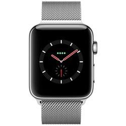 Apple Watch Series 3 boîtier en acier inoxydable argent de 38mm avec Bracelet Milanais MR1N2 (late 2017)