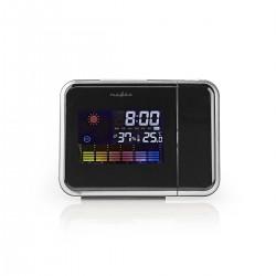 Nedis Horloge projecteur Alarme Hygromètre Prévisions météorologiques