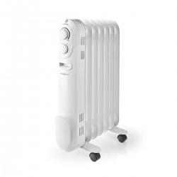 Nedis Radiateur à Huile Mobile 1 500 W Blanc