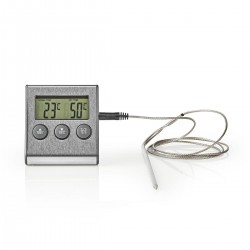 Nedis Thermomètre à Viande 0 - 250 °C Affichage Numérique Minuteur