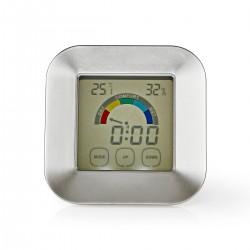 Nedis Hygromètre Thermomètre Heure Écran tactile