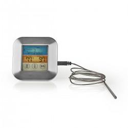 Nedis Thermomètre à Viande 0 - 250 °C Écran Couleur Minuteur