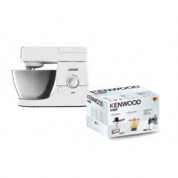 Kenwood Robot Pâtissier Blanc 1000W 4,6L KVC3100W + 3 Accessoires KAM353ME