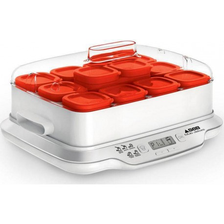SEB Yaourtière Multi Delices Express Rouge 600W 12 Pots YG661500