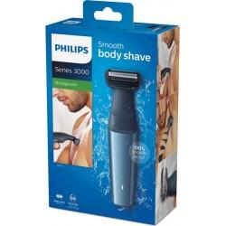 Philips Bodygroom Series 3000 Tondeuse Corps Étanche Gris Bleu BG3015/15