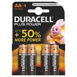 Duracell Plus Power 4 piles 1,5V alcalines AA (lot de 3)