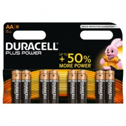 Duracell Plus Power 8 piles 1,5V alcalines AA (lot de 2)