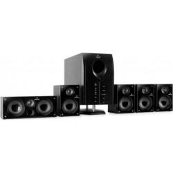 Auna Pack d'enceintes Home Cinéma Areal 525 BK Système d'Enceintes Actives noir (Areal 525 WD)