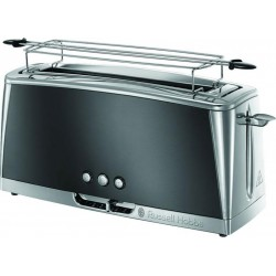 Russell Hobbs Toaster Luna Inox Gris 1420W 2 Tranches 24290-56