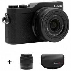 Panasonic Appareil Photo Hybride LUMIX GX800 Noir Objectif 12-32mm + Objectif 35-100mm + Sacoche