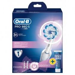 Brosse à dents électrique Oral-B Pro 980s Sensitive Clean avec dentifrice Oral-B